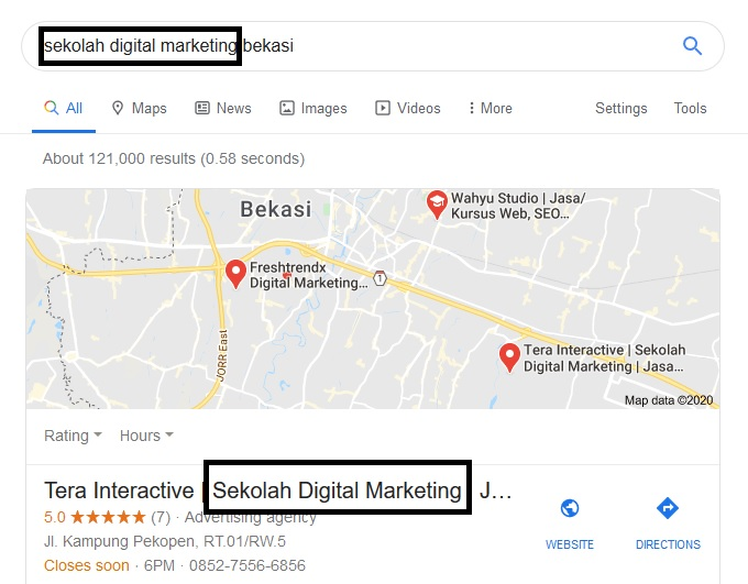 Teknik Optimasi Google My Business menggunakan keyword