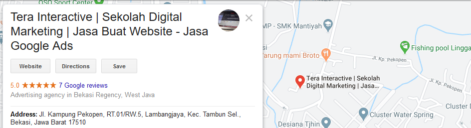 Teknik Optimasi Google My Business Menggunakan alamat detail